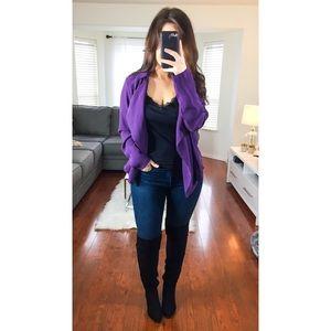 NWT Torrid Purple Drape Front Twill Jacket